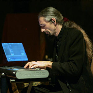 Olivier Milchberg playing keyboard